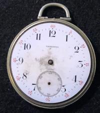 Vintage Tavannes Pocket Watch Movement Parts 12s 7j Swiss