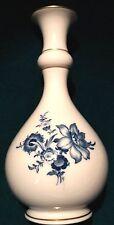 Meissen Vase blaue Blume und Insekten mit Gold 18cm