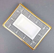 Fornasetti Desk Tray Accessory Ashtray Italian Geometric Pottery Mid Century MCM