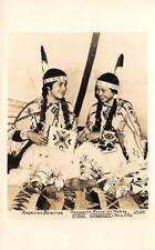 RPPC Pendleton Round-Up, Oregon Native American Indians ca 1940s Ellis Postcard