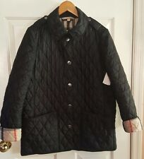 Burberry Women's Kencott Quilted Jacket Black Size Large