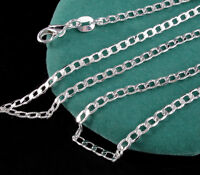 """925 Sterling Silver Figaro Rolo Snake Box Chain Necklace Fashion Jewelry 16""""-30"""""""