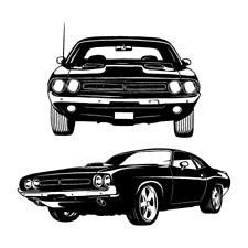Dodge Challenger 1971 Clipart Vector Clip Art Graphics Dxf Svg Eps Ai Png Pdf