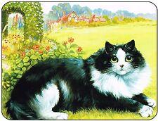 Louis Wain Black and White Cat Mouse Mat, mousepad,