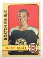 1972-73 Garnett Bailey Boston Bruins 191 OPC O-Pee-Chee Hockey Card P286