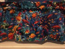 "NEW  Beach Summer  Island Tropical Fish Ocean Valance 42"" W x 13""L"