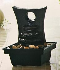 NEW HOME DECOS RELAXING ZEN WATER FOUNTAIN GENUINE RIVER STONES INCLUDED
