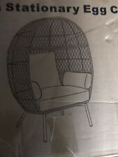 New ListingStationary Wicker Egg Chair Cushion Patio Living Room Furniture Deep Seat Sturdy