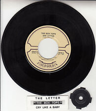 "THE BOX TOPS The Letter & Cry Like A Baby 7"" 45 record + juke box title strip"