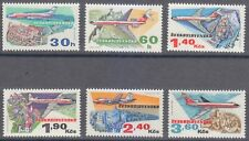 Czechoslovakia 1973 MNH Mi 2166-2171 Sc C77-C82 USSR planes over castles **