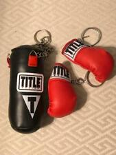 """Title Boxing Red White Black 4"""" Mini Heavy Bag & Gloves Keychain Mma Ufc Boxing"""