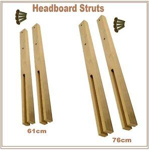 Multi Fit Pair Hardwood Wood Headboard Legs Struts Slotted & Pre-Drilled + Screw