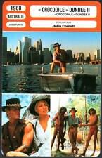 CROCODILE DUNDEE 2 - Hogan,Cornell (Fiche Cinéma) 1988