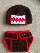 Hand Crochet  Baby Domo Kun Photo prop Diaper Cover and Hat - NEW