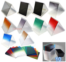77mm ring Adapter + 10pcs square color filter 77mm for Cokin P