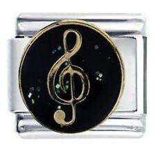 CLÉ DE SOL Musique Daisy Charm JSC adapté à la taille classique Bracelet Italien