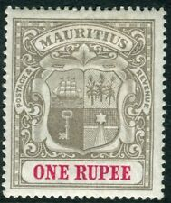 More details for mauritus- 1902 1r grey-black & carmine. a mounted mint example sg 153