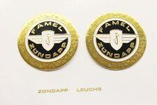 2 x Zündapp FAMEL Tankemblem 64mm 517-20.142 GTS KS 50 Super Sport 515 517