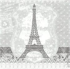 2 Serviettes en papier Paris Tour Eiffel Decoupage Paper Napkins Eiffel Tower