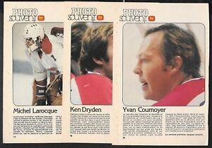 1971-72 & 1978-79 MONTREAL CANADIENS TV HEBDO PHOTO SOUVENIR HOCKEY NHL SEE LIST