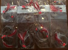 15X WHITING FLASHER FISHING RIGS  2X SUICIDE HOOKS 1# 20lb Leader, Swivels Lumo