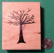Winter Tree Rubber Stamp, wood mounted