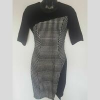 CUE size 8 stretch ponte pencil dress. Midi sleeves excellent condition