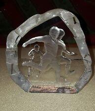 Nybro Sweden Soccer Paperweight - Signed