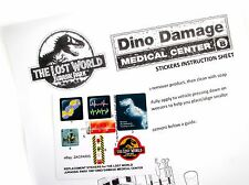 Stickers for Kenner Jurassic Park Lost World Dino Damage Medical Center