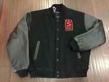 RARE🔥 Red 5 Studios Firefall World of Warcraft Black Leather Wool Jacket Sz L