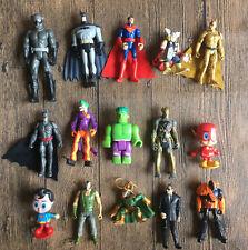 6pcs RANDOM DC BATMAN SUPERMAN Spiderman Super Hero Auction Figures ZX473