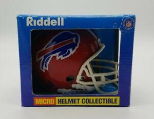 Riddell Buffalo Bills Micro Helmet Vintage NFL Sport Memorabilia New in Box 90's