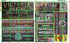 NH020 DAVE'S DECAL 1/2 Set N SCALE GHOST SIGN SIGNS VINTAGTE MIXED SET DRY GOODS