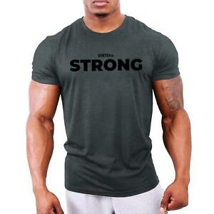 Strong - Men's Bodybuilding T-Shirt | Gym Training Vest Top by GYMTIER