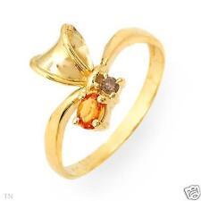 Sapphire Yellow Gold 10 Carat Fine Rings