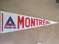 EARLY 1980'S 1981 MONTREAL ALOUETTES CFL FOOTBALL PENNANT (ALTERNATE FORMAT)