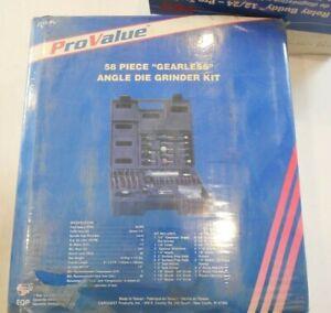 """Angle Die Grinder Kit 58 Piece """"Gearless"""" 2315-PV"""