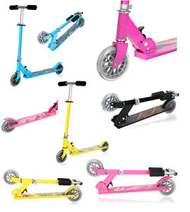 Kids Scooter 2 Wheeled Aluminium Child Scooter Folding Push Kick Street Scooter