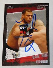 Frank Trigg Signed UFC 2010 Topps Card #3 Hall of Fame Autograph 54 52 50 48 45