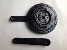 Bicycle Triple Crank/ Crankset/ Chainwheel Guard In Black - 42/34/24 Teeth Ratio