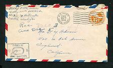 EE. UU. us army postal service 27. nov. 1944. censurados (ba-1)