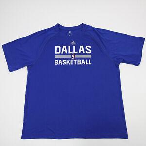 Dallas Mavericks adidas Climalite Short Sleeve Shirt Men's Blue Used
