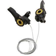 2 Pcs 3x5/6/7 Speed MTB Bike Thumb Gear Shifter Top Mount Shifters Silvery