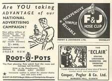 1953 Cooper Pegler Burgess Hill Feeny Johnson Wembley Clips Ad
