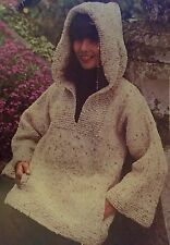 FCl6 - Knitting pattern - Lady's Hoodie Hooded Jumper Smock (like Weird Fish)