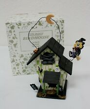 Vintage Tin Roof Birdhouse Halloween Themed Cottage Feeder 1997 New In Box