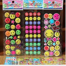 10x Kinder Spielzeug Emoji Lächeln gesicht Ausdruck 3D Aufkleber Blase SL