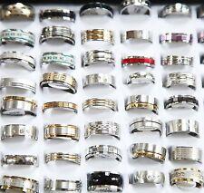 Wholesale 10pcs mixed STAINLESS STEEL RINGS MEN'S Fashion Wedding Ring Xmas Gift