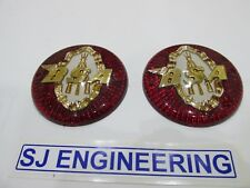 BSA A7 A10 B31 B33 Tank Badges with Logo/Piled Arms 65-8220 1957-1962   SJ401