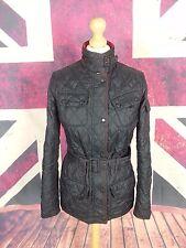 #610 Barbour Ladies New Flyweight International Black Quilt Biker Jacket, UK 8